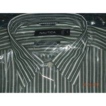 Camisa Marca Nautica Rayada Verde Nueva Talla S