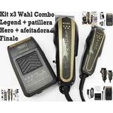 Kit X3 Wahl Combo Legend+hero+afeitadora Finale Profesional