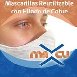 Mascarilla De Hilado De Cobre  Reutilizable Envío Gratis
