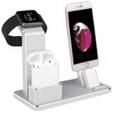 Metal 4 En -1 Manzana Reloj AirPods iPhone Carga Estar De Pi