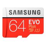 Tarjeta Micro Sd Samsung Evo 64gb 90m/s U3 4k Original
