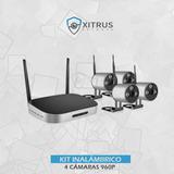 Kit Nvr Inalámbrico 4 Ch + 4 Cám Ip Wifi 960p + Disco 1tb!!!
