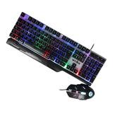 Teclado Gamer + Mouse Rgb Usb Weibo Wb-550 Gaming Keyboard
