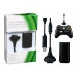 Kit Cargador Cable Xbox 360 Bateria Joystick Super Oferta