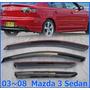 Deflectores De Ventana Mazda 3 Sedan