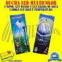Ducha Led Multicolor, 2 Tipos:led Mango Y Led Salida Agua
