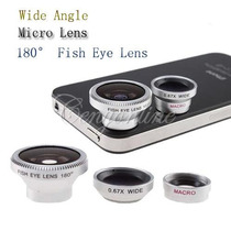 Kit 3 Lentes Para Smartphone Iphone Tablet/ Ojo De Pez, Etc