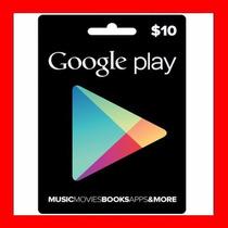 Google Play 10 $ Prepago Tarjeta Americana Playstore Oferta.
