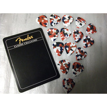 15 Uñetas Originales Fender Heavy Color Confetti Nuevas !
