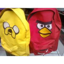 Mochilas Angry Birds Y Jay Hora De La Aventura Y Accesorios