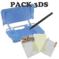 Pack Funda Silicona, Protector Pantalla Y Lápiz Para 3ds