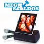 Megasaldos Karaoke Portatil Tablet Ipad Iphone + 2 Microfono