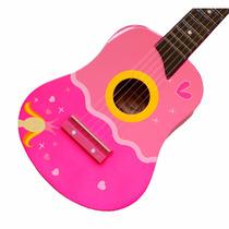 Guitarra De Madera Rosada De Princesa Para Niñas