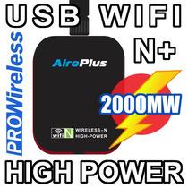 2000mw Usb Wifi N + Antena 5dbi Wifislax Backtrack Beini Mac