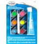 Pinturas Testor 6 Colores Pegamento Y Pincel