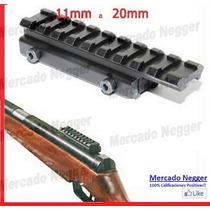 Adaptador Para Riel De 11 Mm A 20 Mm Para Rifles A Postones