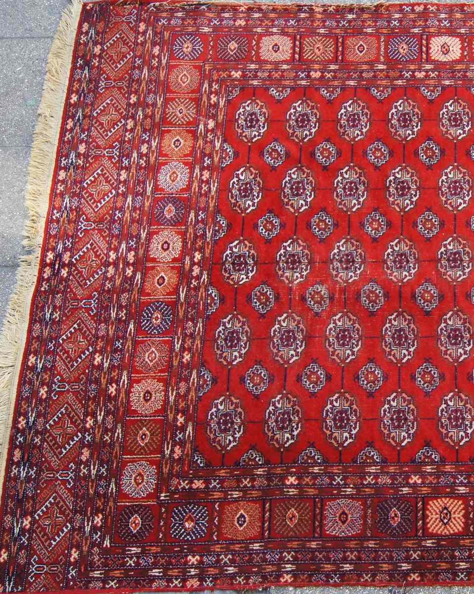 alfombra persa tekke 290 x 190 en mercadolibre
