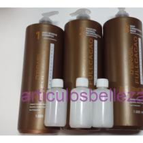Kit Keratina Alisante+shampoo+sellante,3 Pasos 60ml +guantes