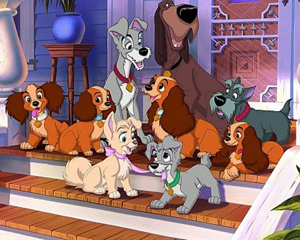 Vistoso Disney Lady Y El Vagabundo Para Colorear Regalo - Dibujos ...