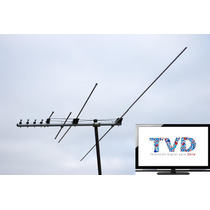Antena Tv Abierta + Señal Hd Digital Apta Lcd Led Vhf Uhf Fm