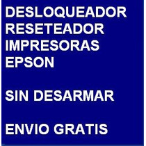 Desbloqueador Reset Impresora Epson L555 - Envio X Internet