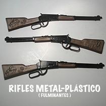 Rifle Die-cast Metal Plastico De 28 Cms. Replica A Escala.-