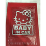 Adhesivo Para Vehículos Baby In Car Hello Kitty