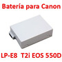 Batería Reemplaza Canon Lp-e8 Rebel T2i Eos 550d Kiss X4