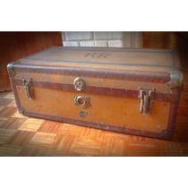 Baul Baúles Antiguo Adastra Birken Sperrholz Vintage