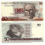 Brasil - Billete 50 Cruzados Remarcado - Nuevo!!!!!!