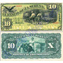 Billete Facsimilar Banco De La Serena 10 Pesos Del A Bank. C