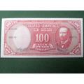 Billete Chileno 100 Pesos Remarcado 10 Cent Escudos 1960