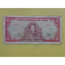 Billete Antiguo 5 Escudos