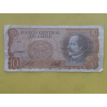 Billete Antiguo De 10 Escudos