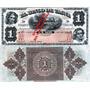 Billete Facsimilar 1 Sol Banco D Tacna Bajo Ley Chilena 1884