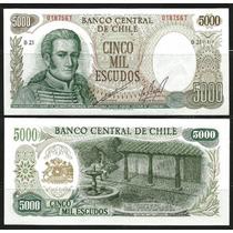 Ofertón # 464, Chile Precioso Billete Unc. Mint Eº 5.000