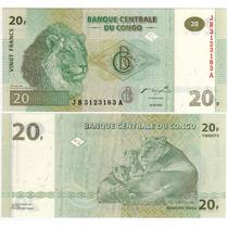 Congo - Billete 20 Francos 2003 - Nuevo!!!!