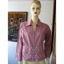 Blusa, Camisa, Color Ciruela, Algodon Elasticado, Talla M