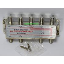 Splitter Para Cable Coaxial Satelital Texicom 8x1 2500 Mhz