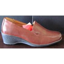 Hermosos Zapatos Tipo 16 Hrs N° 35 Color Cafe Nuevos