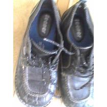 Zapatos Escolar 37 Marca Teener De Cuero