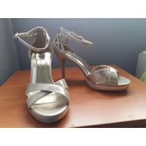 Zapatos De Fiesta Dorados Mujer Talla 36 Con Plataforma
