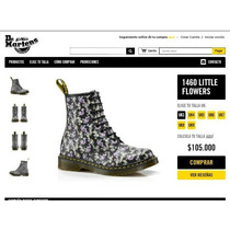 Botines Dr. Martens -1460 Little Flowers - Nº 42- Originales
