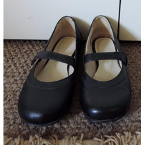 Zapatos Mujer Estilo Chinita Negros Cuero