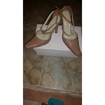 Sandalias Color Camel 37 ( No Gacel, Pollini, Guess, Via Uno