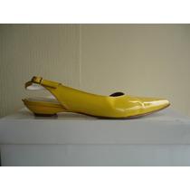 Sandalias Puntillas Gacel Nº 37 Cuero Amarillas