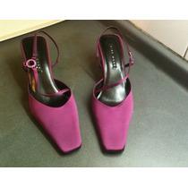 Zapato Nine West Satin Burdeo N° 38