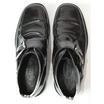 Zapatos Negros De Cuero Italiano Martinelly