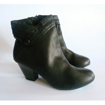 Botin Marca Jaclyn Smith Color Negro Nro 39.nuevos