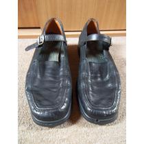 Zapato De Mujer Negro Pollini 16 Hrs, Talla 39